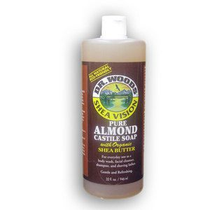 DR. WOODS Pure Almond Castile Soap with shea butter