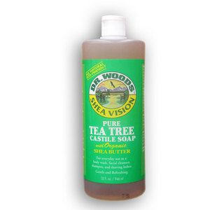 DR. WOODS Pure Tea Tree Castile Soap with shea butter