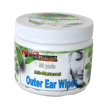 Wally's Natural Outer Ear Wipes (50 Pads)